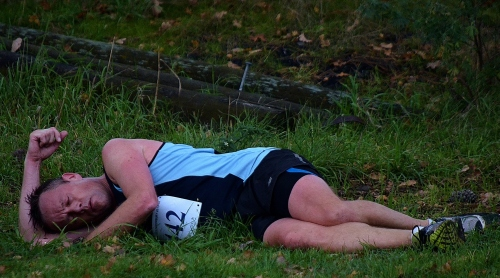 Kevin resting post-race
